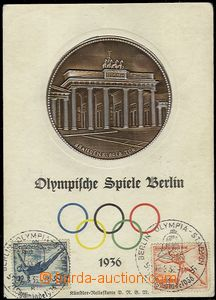 54856 - 1936 OLYMPIC GAMES Berlin, embossed postcard big format with