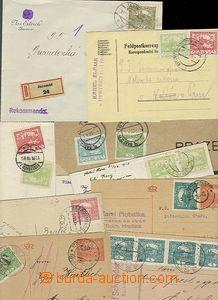 54940 - 1918-20 sestava 10ks celistvostí s frankaturou Hradčany, 1