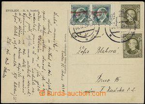 54964 - 1939 pohlednice do ČaM, vyfr. zn. Alb.8 2x + Alb.26A 2x, DR
