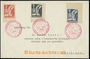 54965 - 1945 letter in the place with Pof.354 + 355 + 356 Košice-iss