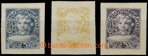 54976 - 1919 A.Mudruňka, 3ks dívčí hlavička, hodnota 25, návrh