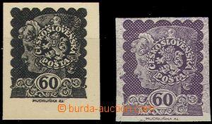 54977 - 1919 A.Mudruňka, 3ks dívčí hlavička z profilu, návrh v