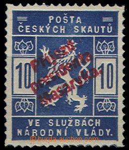 54984 - 1918 FALZA  padělek přítisku Příjezd presidenta Masaryk