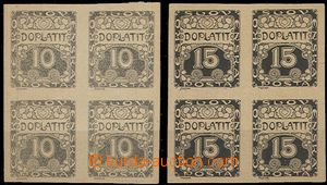 54986 - 1919 Pof.DL2ZT + DL3ZT black prints postage-due stamps in bl