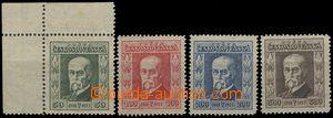 55005 - 1923 Pof.176-179 TGM, č.176 horní rohový kus, průsvitky