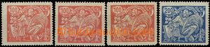 55009 - 1923 Pof.173AI.+II.+III., Pof.174AII., T II. lightly hinged,