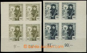 55016 - 1920 Pof.163ZT Hussite-issue, 2x trial print in blocks of fo