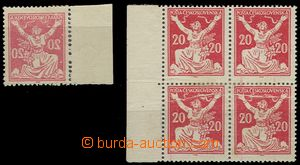 55031 - 1920 Pof.151A, 1x marginal piece with full machine offset (o