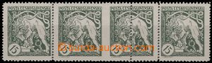 55047 -  Pof.27B Legionaire, horizontal strip of 4 with significant