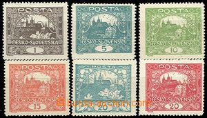 55091 -  Pof.1C, 4C, 6C, 7C, 8C, 9C, comp. 6 pcs of stamps Hradčany