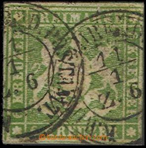 55185 - 1857 Mi.8, Znak, 2x otisk DR, zachovalé, kat. 70€
