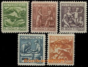55207 - 1924 Mi.442-446, TB Welfare, complete set 5 pcs of stamp., h