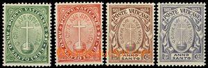 55208 - 1933 Mi.17-20 St. year, complete set 4  pcs, hinge / label,