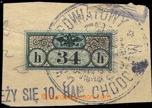 55217 - 1899 Zustellungs  Mi.2B doruční 34H, na výstřižku, perf. 12&