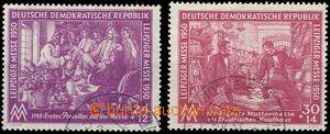 55231 - 1950 Mi.248-9 Leipzig Trade Fair, light postmark, well prese