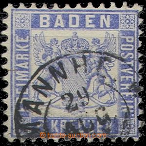 55238 - 1864 Mi.19, partially overlapping postmark, well preserved,