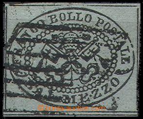 55239 - 1852 Mi.1 papežský znak (Kirchenstaat), papír neurčen, d