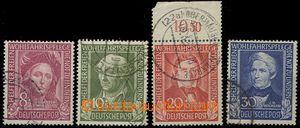 55242 - 1949 Mi.117-120, Pomocníci lidstva I, solidní razítka rů