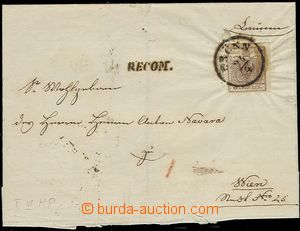 55246 - 1854 Reg letter (folded cover) with Mi.4 2x, type III, HP, 1