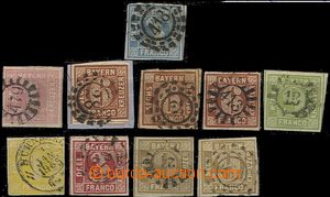 55383 - 1849-62 comp. 10 pcs of stamps issue I, various quality, sch