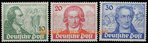 55391 - 1949 Mi.61-63 Goethe, svěží, kat. 380€