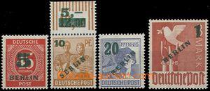 55392 - 1949 Mi.64-67 přetiskové, 1x okraj s počítadlem, svěž�