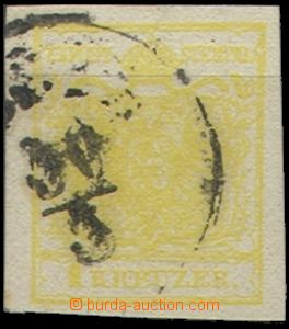 55400 - 1850 Mi.1 citreous yellow, machine made paper, good margins,