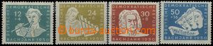 55415 - 1950 Mi.256-259,  Day of Bach's Death, set 4  pcs, 1x shorte