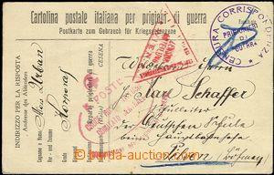 55424 - 1916 italský zajatecký lístek adresovaný do Plzně, ze z