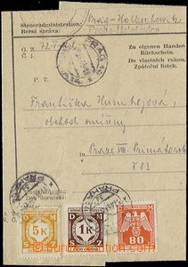 55449 - 1943 address part tax výměru franked with. service stmp I