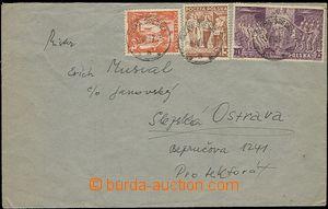 55456 - 1939 letter sent from Prostřední Suchá in time of Polish