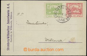 55459 - 1919 commercial PC with Pof.3+5, Austrian postmark train pos