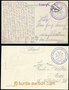 55485 - 1914-17 MALTESER RITTERORDENS, 2x prošlá pohlednice s raz�