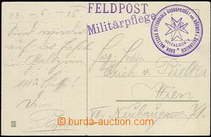 55487 - 1915 MALTESE RITTERORDEN (knight's order), postcard to Wien