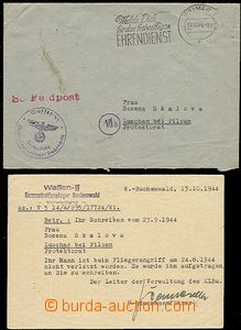 55488 - 1944 C.C. BUCHENWALD, letter incl. content to BOHEMIA-MORAVI