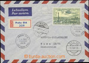 55515 - 1961 CZECHOSLOVAKIA 1945-92., Reg and airmail letter to Vien
