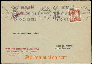 55518 - 1963 BEEKEEPING  letter with 20h, machine slogan pmk Prague