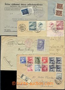 55519 - 1945-50 CENSORSHIP  comp. 6 pcs of letters with various Czec