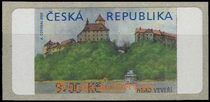 55542 - 2000 AT1/I. Veveří (castle), value 9CZK without *, product