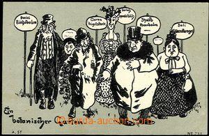 55554 - 1900 karikatura Židů s německými jmény významově z ob