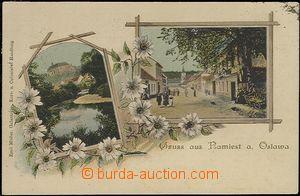 55608 - 1900 Náměšť n./O. - 2-views collage; long address, Us, g