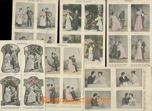 55644 - 1906 comp. 6 pcs of 4-views Ppc with theme relation man and