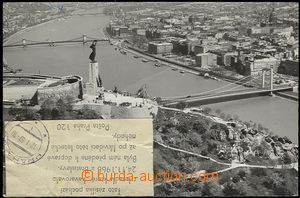 55647 - 1966 pohlednice z Budapešti do Ostravy přepravovaná letad