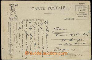 55657 - 1918? FRANCIE  barevná pohlednice (vojenská abeceda) přep