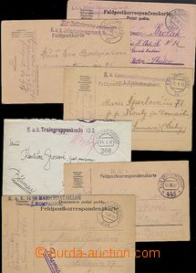 55663 - 1915-7 sestava 6ks lístků zaslaných polní poštou, 4x ra