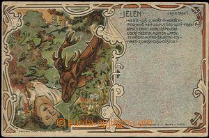 55685 - 1900 Josef Šváb č. 210, Jelen, nenie juš junoše v horá