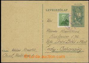 55705 - 1939 maďarská dopisnice Mi.P109 (1939) s dofr. zn. 6f zasl