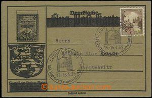 55707 - 1939 letecké dopisnice s přitištěnou zn. 10Pf Erste Deut