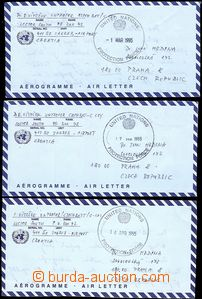 55725 - 1995 comp. 3 pcs of air-mail letters from Croatia from soldi