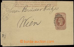 55759 - 1883? newspaper wrapper 1/2P  Mi.S6 with perfin CR, folded,
